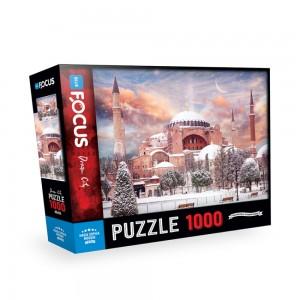 Blue Focus 1000 Parça Puzzle - Hagia Sophia Mosque (Ayasofya Camii)