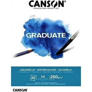 CANSON GRADUATE SULUBOYA DEFTERİ 250GR A5 20 YAPRAK