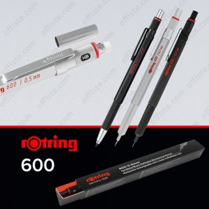 Rotring 600 Mekanik Kurşun Kalem, Siyah 0.7 Mm