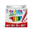 Carioca Jumbo Süper Yıkanabilir Kalın Keçeli Boya 24 Renk